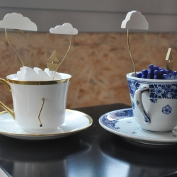"Made me smile: John Lumbus creates this little crafted kinetic object ""Storm in a Tea Cup"" in a british and a Royal delft version. By Laikingland."