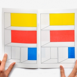 Amazing Comic Book by Frédérique Rusch. Charles Burns + Piet Mondrian in perspective. Wooow!