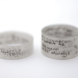 """Like wearing a Love Letter""  - Ring set by Colleen Baran"