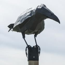 Welded steel ravens