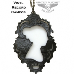 WrecordsByMonkey  Vinyl Record Cameos have a great classic look with a music lovers edge.
