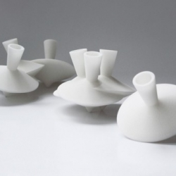 'Dancing Vases' by young Dutch designer Robin van Hontem.