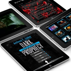 Dark Prophecy is the ultimate 'Digi-Novel' experience for the iPad.  It is an interactive thriller by Anthony E. Zuiker, creator of the CSI franchise and developed by Hooray Society.
