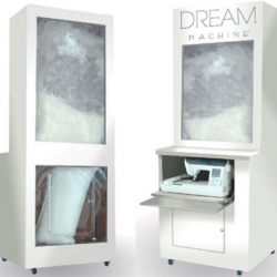 The Dream Machine dispenses customized pillows to suit the individual's body type and sleep position preference.