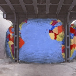 David Byrne will install a giant inflatable globe in the confined space of the lot under the Highline.