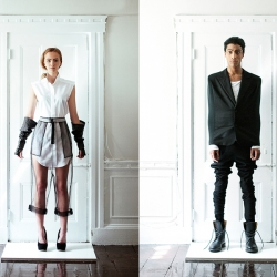 Andre Herrero photographs David Yoo S/S collection. Classically tailored with technologically advanced materials.