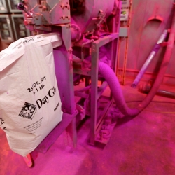 Take a look inside the busy factory of DayGlo Color Corp., where you'll find huge, grinding, belching and all around intimidating industrial machines coated head to toe in fluorescent pink and blaze orange hues.
