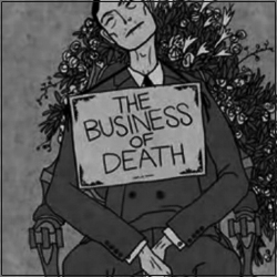 Good Magazine : The Business of Death. A light-hearted look at what goes into dying. Directed by Alejandro Cardenas with Illustrations by Daniel Cardenas... (YouTube Video)