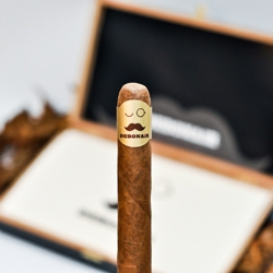 Cool packaging and identity work for Debonair cigars made by Royal T. That's when the mustache becomes trendy (and when it makes Cigars trendy)
