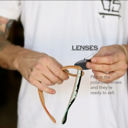 This video by TUBE, showcases the process behind every pair of Deck Specks, sunglasses made from recycled skateboard decks.