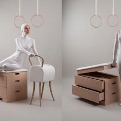 Gymnastics Furniture Set Design by Katarina Belickova