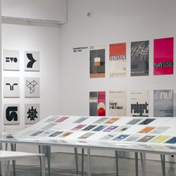 The Design Museum, London's retrospective 'Wim Crouwel - A graphic odyssey'. Great exhibit and merchandise including Crouwel inspired wrapping paper and a New Alphabet rug!