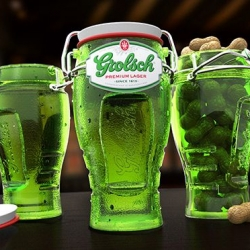 Grolsch Bottle Concept - 19th century packaging technology applied to current beer canning tech.