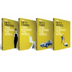 Beautifully design book covers- Fifty Design That Change The World by Design Museum Shop. Simple & Clean!