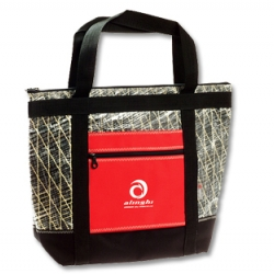 Bags made with original sails used by Alinghi to win the America's Cup in 2003