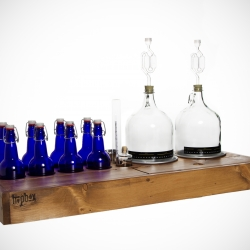 Box Brew Kits - Brew like a boss. Handmade small-batch home-brew kits designed to make beer, wine or cider. Reclaimed wood available. Don't hide your hardware.