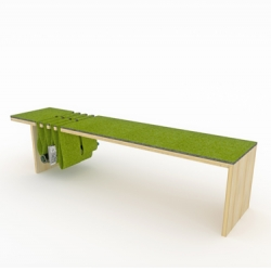 Cool multi-purpose Bench+Storage called the Double-Dip bench from Canadian design studio fishtnk!