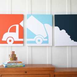 Minneapolis-based Senn & Sons creates bold, iconic triptych artwork for kids' rooms.
