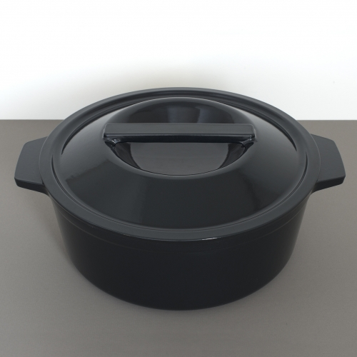 Borough Furnace just launched a new Dutch oven in gloss black porcelain enamel, the only enameled cast iron made in the USA.