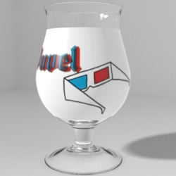 Duvel 3D glass, part of the Duvel Studio designs. The best Duvel Glass designs will go into production.