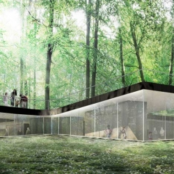 Danish architecture firm EFFEKT are constructing this gorgeous Nature Centre in Harskoven, Copenhagen.