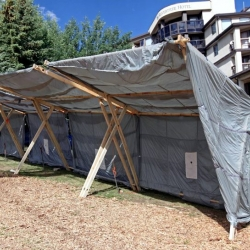The X Tent debuts at the EMU Music Festival and proves to be an adaptable eco shelter made from bamboo and other good stuff.