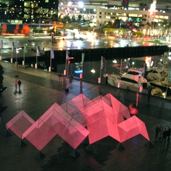 In Melbourne this week? vist the LightScraper, an interactive light and sound sculpture created by ENESS.