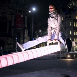 No ordinary Seesaw by ENESS. A Tilt of Light - now playing at Melbourne's Federation Square.