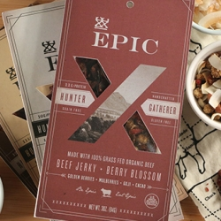 EPIC Hunter & Gatherer Mixes from the folks who brought us meaty EPIC bars - Each mixture begins with a solid foundation of 100% grass fed & organic beef. And the second half is fruity/nutty goodness.