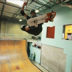 Tony Hawk rides a cardboard skateboard in the latest installment of the Cardboard Chaos video series.