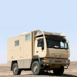 UNICAT creates high end luxury off-road RVs by retrofitting garbage trucks.