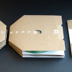 Here's a sustainable design concept proposed by Elie Monge in my packaging course to replace the traditional CD case