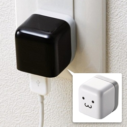 Elecom mini cube-shaped 100V AC USB charger for your iPod or iPhone or other USB devices