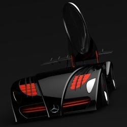 Stunning Mercedes-Benz LeMans Electric Race Car Concept
