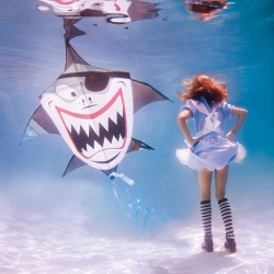 Take a deep breath and dive in a mad tea undersea party!.......Alice in Waterland by Elena Kalis