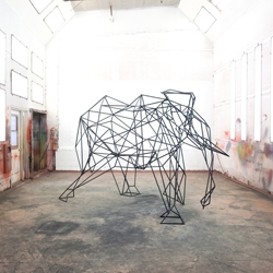 Elephant sculpture by Ben Blanc captured in stop motion by S. Ewen's.