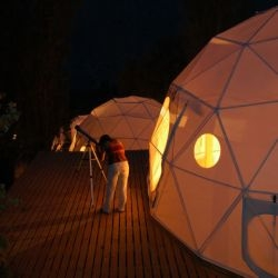 Hotel ElquiDomos: an astronomy themed hotel comprised of dome-tents set on platforms, way up in the Andes in Chile. Designed by Nicolás Fones of F3 Arquitectos. Wanna live in one? You can...
