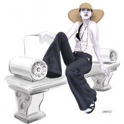 Inspiring interview with fashion illustrator Nicole Jarecz, student in Miami at College for Creative Studies, fashion design section, on how to find your ideal fashion Internship while you're a student.