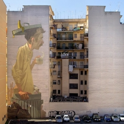 New Mural by Sainer und Betz from Polish Streetart Team Etam Cru in Rome, Italy.
