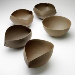 Ceramic origami ~ by Ann Van Hoey