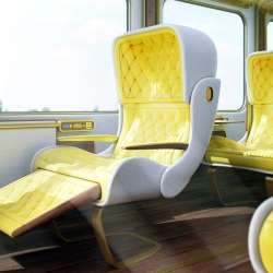 Designer Christopher Jenner revamped the Eurostar with his dreamy rendition of an elegant train car.