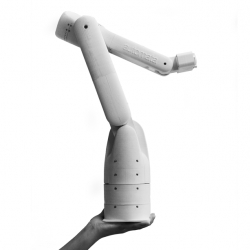 Eva, lightweight, low cost, and easy to program robotic arm.