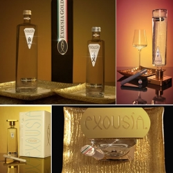 Exousía 24K Gold Luxury Water - Sip on liquid gold
