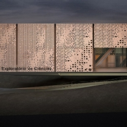 CHN arquitetos has won the competition of  Exploratory Science Museum. The surface of the facade is created from the idea of infinity: a reference to the essence of its form, recognizable from its cosmological scale to its most minimal.