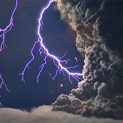 An even more amazing set of images from the Eyjafjallajokull volcano, erupting into lightning storms!
