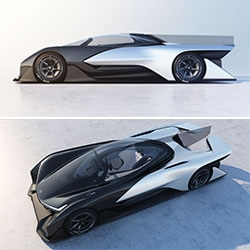 Faraday Future's FFZERO1 Concept Racecar is the talk of CES so far... a peek at their view of future range of clean, intuitive electric vehicles.