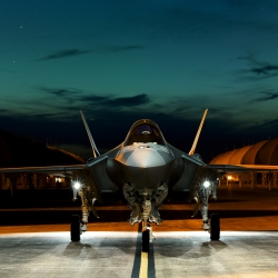 Vanity Fair sent Stephen Wilkes to Eglin Air Force Base in Florida to capture the F-35 Lightning II, a.k.a. the Joint Strike Fighter.