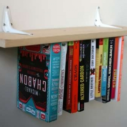 How to make an inverted bookshelf!