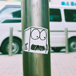 Stickers around Shibuya & Harajuku, Japan!