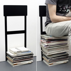 This 'chair' might not be the most comfortable, but it will mark the spot where to stack your magazines.